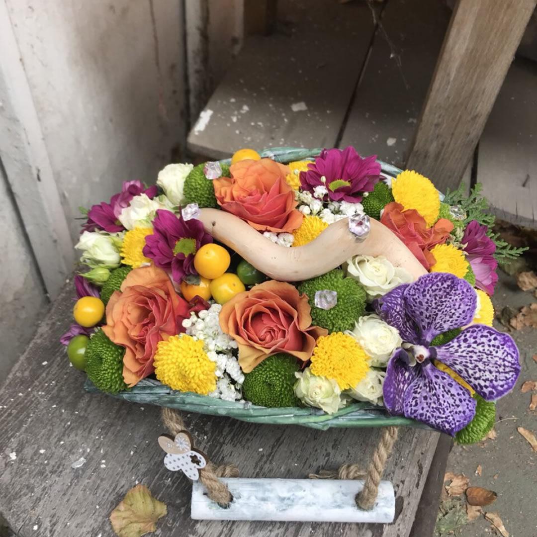 Jesenji cvetni aranzman