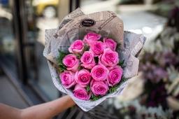 Buket 13 roze ruža
