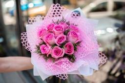 Buket 11 roze ruza