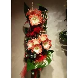 Buket amarilis, anturijum, ruže