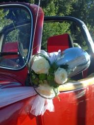 Buket za retrovizore tri ruže