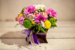 Cvetni aranžman - Hrizantema i Alstromerija