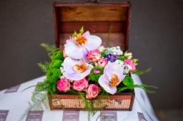 Cvetni aranžman phylaenopsis