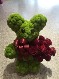 Zeleni meda od hrizantema i ruža