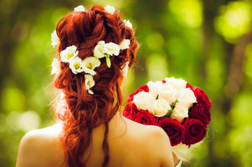 dekoracija venčanja bidermajer ukras za kosu